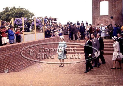 The Queen opening Snape Maltings in 1967