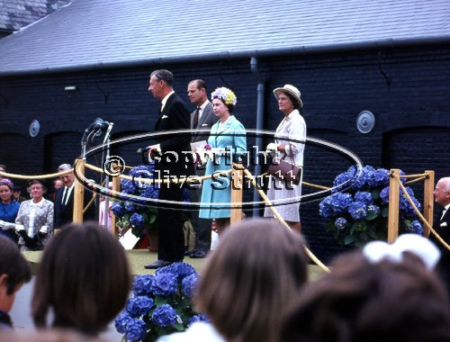 Benjamin Britten with the Queen opening Snape Maltings