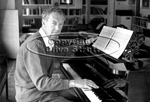 Benjamin Britten at Piano in Red House