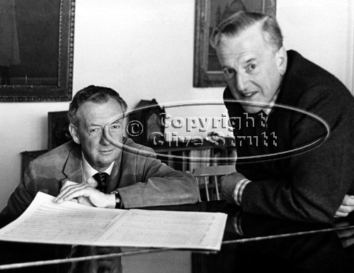 Benjamin Britten and Peter Pears at Piano in Red House