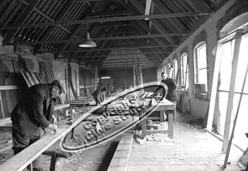 Carpenters working Snape Maltings