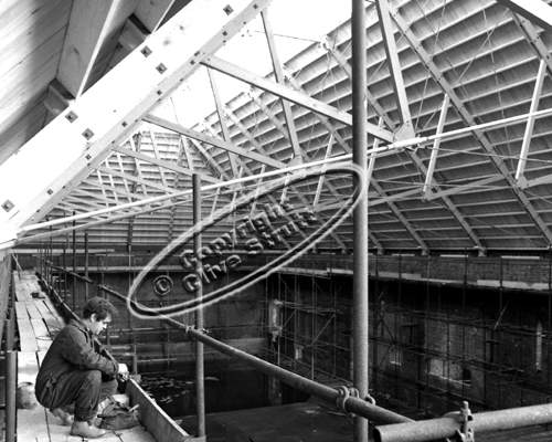 Building Snape Concert Hall roof