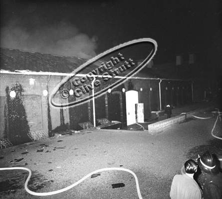 Fire at Concert Hall Snape 1969