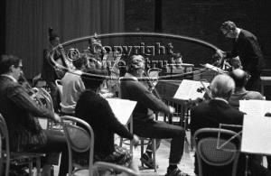 Benjamin Britten conducting rehearsal at Snape Maltings
