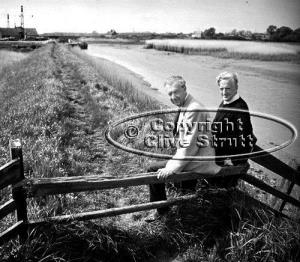 Benjamin Britten and Peter Pears outside Snape Maltings