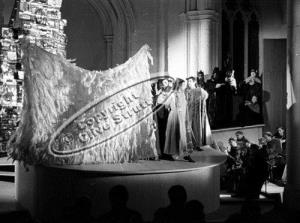 Burning Fiery Furnace at Orford church in 1966