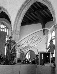 Benjamin Britten conducting Idomeneo at Blythburgh Church in 1969