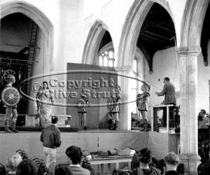 Benjamin Britten conducting Idomeneo in Blythburgh Church in 1969