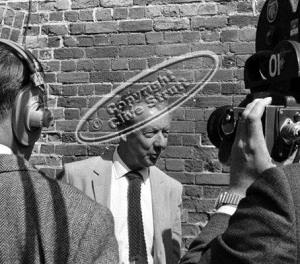 Benjamin Britten TV interview at fire damaged Snape Maltings in 1969