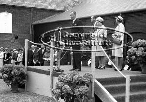 The Queen opening concert hall with Benjamin Britten in 1967